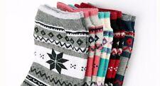 Womens Ladies Girls Fashion Design Cotton Stylish Comfy Casual Snow Flower Socks