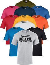Boxing Eat Sleep Train Hardcore  T Shirt