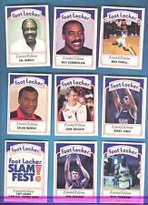 1991 SLAM FEST FOOT LOCKER BASKETBALL CARD SET NBA NFL MLB SPORTS CELEBERTIES
