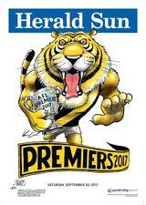 RICHMOND TIGERS 2017 AFL PREMIERSHIP HERALD SUN WEG FOOTY POSTER