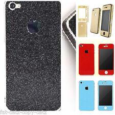 FULL BODY APPLE IPHONE 4 & 4S GLITTER MOBILE PHONE SKIN CASE DECAL UKSELLER 99p