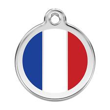 Médaille gravé inox émaillée - Drapeau - RED DINGO