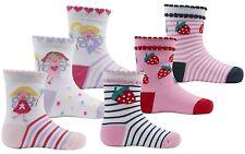 Zest Baby Girls Fun Character Cotton Rich Design Socks