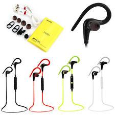 Bluetooth Headphones Wireless Sport Hook Earphones Run Fitness USB Mobile Phone