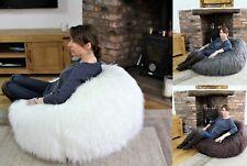 Faux Long Fur Large Bean Bag Chair Mongolian Fur Beanbag Gaming Chair 110cm DIA
