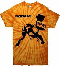 Banksy Oficina Silla Tie Dye T-shirt-The Clash London Calling Festival