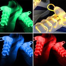 1 Paire Lacets Lumineux A LED ColorLight Chaussure Collier Bracelet Neuf