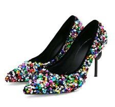 Sexy Women's Pointy Toe Slip on Wedding Nightclub Shoes Stilettos High Heels New