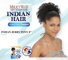 "SHAKE N GO HUMAN HAIR P/T INDIAN JERRY PONY 8"" DRAWSTRING PONYTAIL"