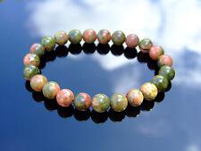 Unakite Natural Gemstone Bracelet 6-9'' Elasticated Healing Stone Chakra Reiki