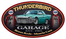1965 Ford Thunderbird Hardtop Garage Sign Wall Art Graphic Sticker