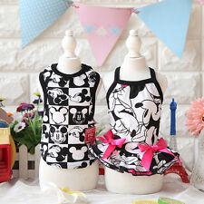 New Dog Vest Skirt Small Pet Cartoon Lovers Skirt Vest Style Puppy Cat Apparel