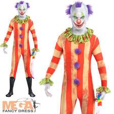 Scary Clown Age 10-14 Boys Fancy Dress Halloween Joker Circus Kids Child Costume