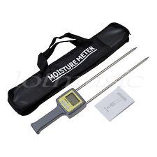 4 LCD Digitale Tester Misuratore umidità per legno grana Cotone Tabacco portatile