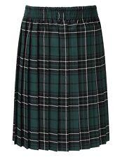Girls Skye Tartan Pull-on Knife Pleat skirt-Full Elasticated Waist-QUALITY SKIRT