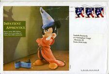 USA Flag 2009 su busta viaggiata - Topolino Apprendista Stregone Disney Fantasia