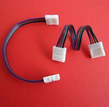 RGB LED Strip Leiste Schnellverbinder Adapter Verbinder 5050 KABEL für 10mm NEU