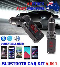 WIRELESS BLUETOOTH CAR FM TRANSMITTER HANDSFREE MP3 PLAYER FOR IPHONE & SAMSUNG