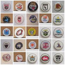 GOLF BALL MARKERS - EELS, Qld, Balmain,DRAGONS,STORM + ADD A  HAT CLIP OR DIVOT