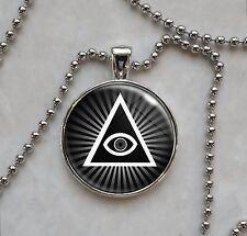 Illuminati All Seeing Eye Pyramid Pendant Necklace