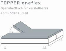 Split Topper Sábana ajustable Dividido 200x200 cm Kneer Q22 corte am Cabezal