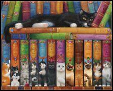 Chart Needlework Crafts DIY - Counted Cross Stitch Kits - Cat Bookshelf
