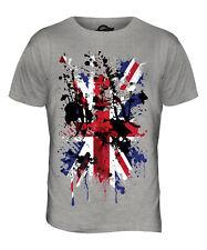 UNION JACK ABSTRACT PRINT MENS T-SHIRT GREAT BRITAIN FLAG UK UNITED KINGDOM TOP