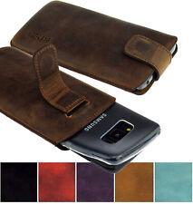 Samsung Galaxy S8 Hülle Tasche Ledertasche Schutz Cover Etui inkl. Silikon Case