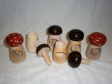 Hand Carved Wooden Nutcracker Nut Cracker Cracking Device Mushroom Screw Cap