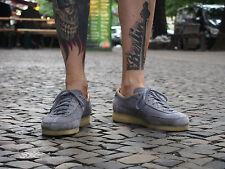 Clarks Originals Schuhe TORCOURT SUPER blau grau Leder Halbschuhe NEU Sneakers