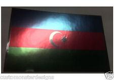 AZERBAIJAN FLAG Decal Vinyl Sticker chrome or white vinyl and 15 sizes to pick!