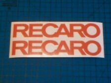 Recaro 200 mm x2 Autocollant Sticker Motorsport Rally Course Toutes les couleurs livraison gratuite