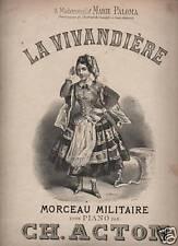 MUSICA_ACTON_MARCIA MILITARE_FOLKLORE_BELLA ANTICA EDIZIONE_DA COLLEZIONE_'800