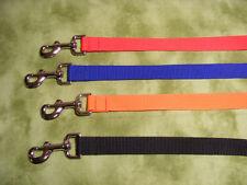 "1"" wide Dog Leash 12"", 2, 3, 4, 5, 6 , 8 ft long COLORS"