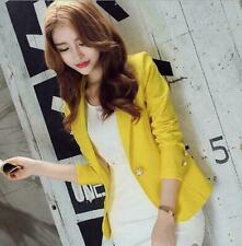 One Button Slim Office Business Women's Korean OL Blazer Suit Jacket Coat Outfit