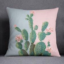 S4Sassy Cactus Print rose coussin cas Square oreiller couverture Throw