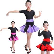 jeune fille enfants Latin Ballet Salsa TENUE DE DANSE ROBE Performance