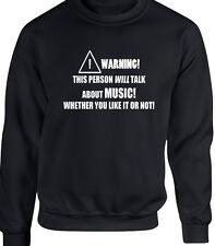 Music Mens Sweatshirt Funny Hobby Statement Rock Metal Jazz Rap Singer DJ Sing