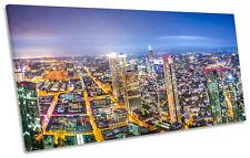 Frankfurt Germany Skyline Cityscape PANORAMIC CANVAS WALL ART Box Frame