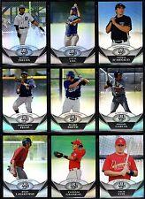 2011 Bowman Platinum Prospects Refactor Parallel #1-47 You Pick Complet Your Set