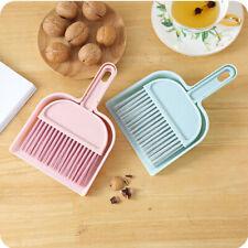 Mini Desktop Dining Table Sofa Sweep Cleaning Brush Small Broom Dustpan 1 Set