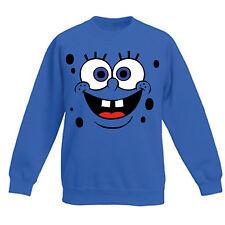 Art T-shirt, Felpa Raglan Spongebob, Bambino Bambina Child, Blu