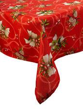Vintage Noël Nappe Festive rouge HOLLY BOW Manita de Noël Maison Linge de table