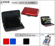 Boite Porte Carte étui portefeuille rigide de crédit fidélité Aluminium case