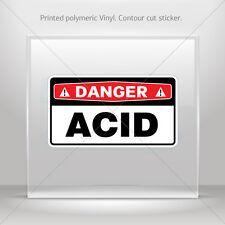 Sticker Decal Danger Acid Atv Bike Garage bike polymeric vinyl st5 X8WWW