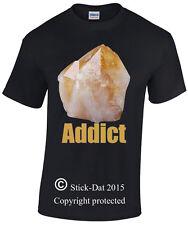 Crystal Addict Mens Shirt 100% Cotton funny drug ice meth dude Real Citrine fun