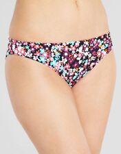 Just Peachy Midnight Martini Classic Bikini Brief Black Pink Blue Floral NEW