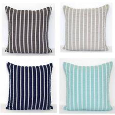 Cushion Cover Stripe Texture Design Seersucker Navy Aqua Grey Charcoal 50x50 cm