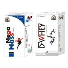 MEGA-MASS & D-WHEY CAPSULES AYURVEDIC WEIGHT GAIN CAPSULES, HERBAL MASS GAINER