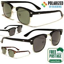 Polarised Sunglasses - Vintage / Retro Half Rimmed Frames - Polarized Lens